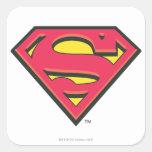 Logo classique de Superman Autocollants Carrés