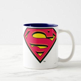 Logo classique du S-Bouclier | de Superman Tasse 2 Couleurs