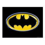 Logo classique du symbole   de Batman Carte Postale