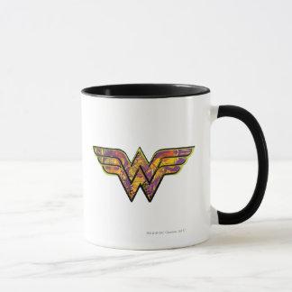 Logo coloré de femme de merveille mug