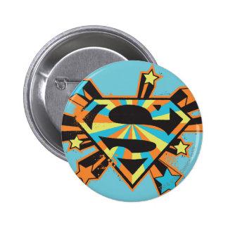 Logo coloré d'étoiles de Supergirl Pin's