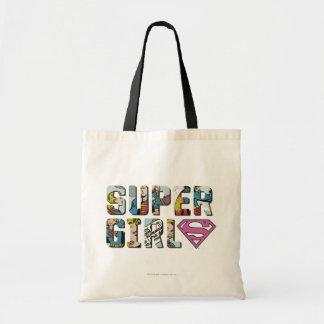 Logo comique de Supergirl Sacs En Toile