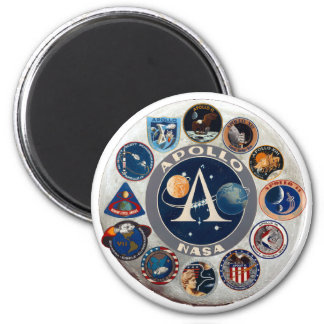 Logo commémoratif de programme Apollo Magnets Pour Réfrigérateur