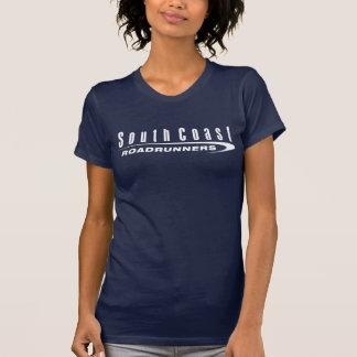 Logo court foncé de blanc de chemise de la douille t-shirt