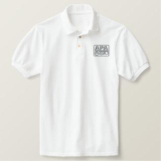 Logo d'APA - gris Polo Avec Broderie