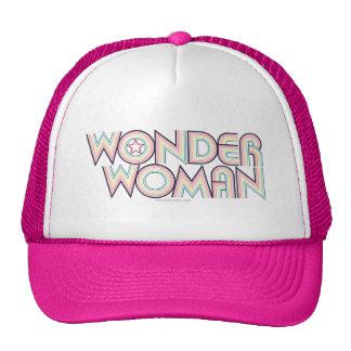 Logo d'arc-en-ciel de femme de merveille casquette