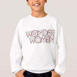 Logo d'arc-en-ciel de femme de merveille sweatshirt