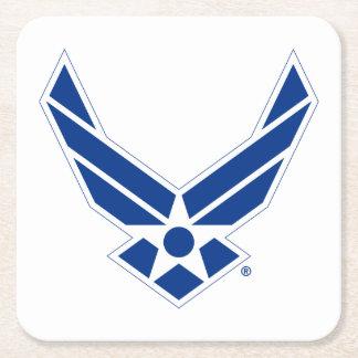 Logo d'armée de l'air des États-Unis - Bleu Dessous-de-verre Carré En Papier