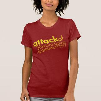 Logo d'attaque : Jaune/rouge sur un T-shirt