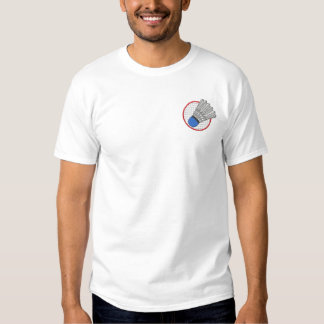 Logo de badminton  t-shirt brodé