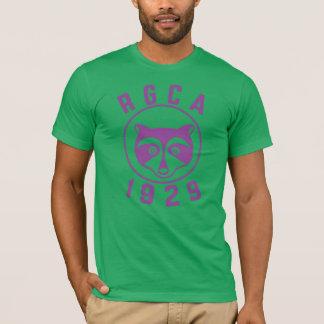 Logo de base de pourpre du T-shirt des hommes de