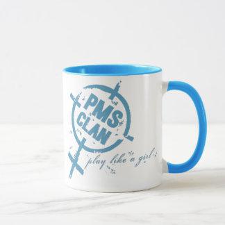Logo de bleu de tasse de PMS
