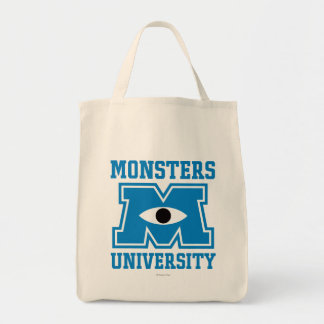 Logo de bleu d'université de monstres sacs