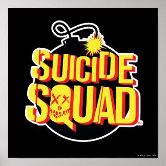 Logo de bombe du peloton | de suicide posters