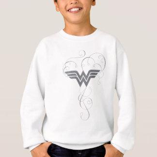 Logo de bonheur de beauté de la femme de merveille sweatshirt