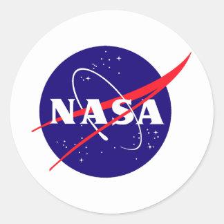 Logo de boulette de viande de la NASA Sticker Rond