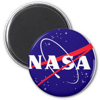 Logo de boulette de viande de la NASA Magnet Rond 8 Cm