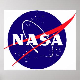 Logo de boulette de viande de la NASA Affiches