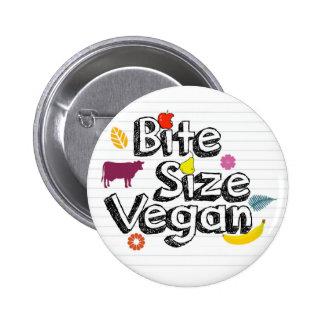 Logo de bouton végétalien de taille de morsure pin's