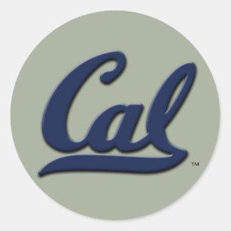 Logo de calorie sticker rond