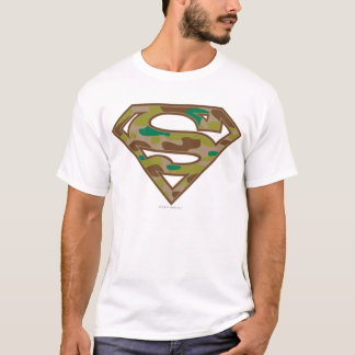 Logo de camouflage du S-Bouclier   de Superman T-shirt