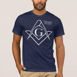 Logo de carré blanc et de boussole t-shirt