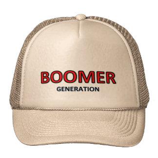 Logo de casquette de génération de baby boomer