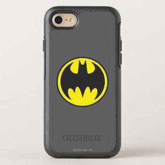 Logo de cercle de batte du symbole | de Batman Coque OtterBox Symmetry iPhone 8/7