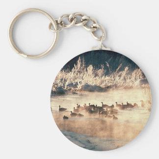 Logo de chasse de canard porte-clés