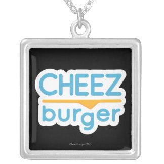 Logo de Cheezburger (couleur) Pendentif Carré