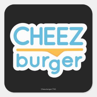 Logo de Cheezburger (couleur) Sticker Carré