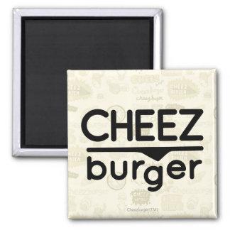 Logo de Cheezburger (noir) Magnet Carré