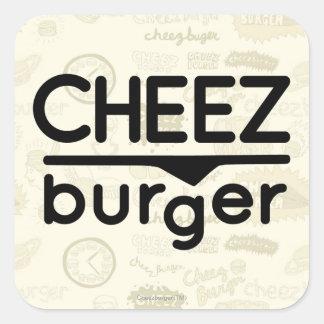 Logo de Cheezburger (noir) Sticker Carré