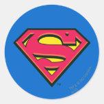 Logo de classique de Superman Adhésif Rond