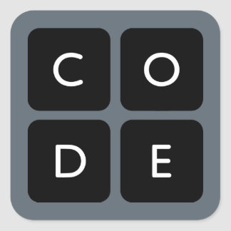 logo de Code.org Stickers Carrés