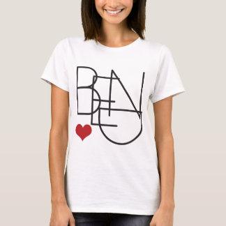 Logo de coeur de mot de l'Orégon de courbure T-shirt