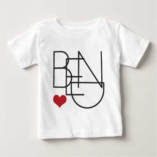 Logo de coeur de mot de l'Orégon de courbure T-shirt Pour Bébé