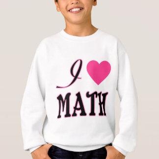 Logo de coeur de rose de maths d'amour sweatshirt
