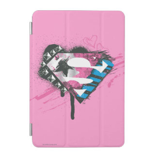 Logo de coeurs de Supergirl Protection iPad Mini