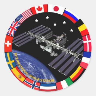 Logo de composé de membres d'ISS Sticker Rond