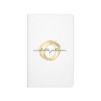 Logo de concepteur de cercle peint par or Luxe de Carnet De Poche