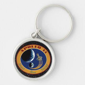 Logo de correction de mission de la NASA d'Apollo Porte-clé Rond Argenté