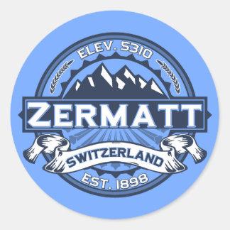 Logo de couleur de Zermatt Sticker Rond