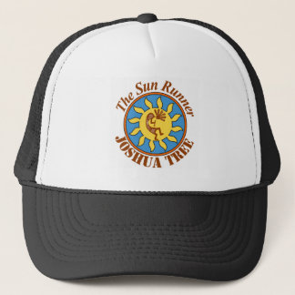Logo de coureur de Sun, arbre de Joshua Casquette