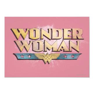 Logo de crayon de femme de merveille carton d'invitation  12,7 cm x 17,78 cm