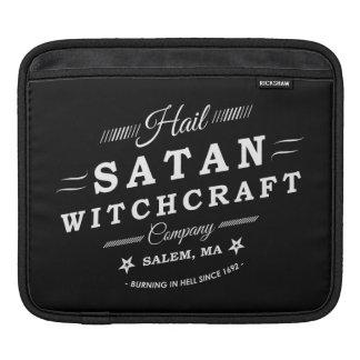 Logo de cru de la sorcellerie Co Salem mA de Satan Poches Pour iPad