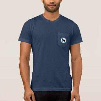 Logo de délivrance de Malinois, le T-shirt foncé