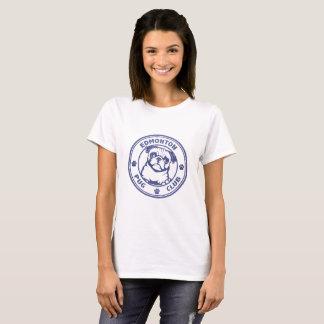 Logo de denim de la pièce en t des femmes t-shirt