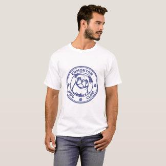 Logo de denim de la pièce en t des hommes t-shirt