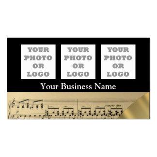 Logo de feuille et de société de musique carte de visite standard